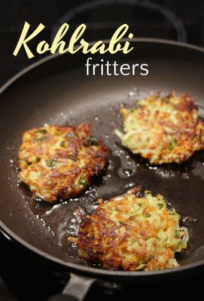 Kohlrabi carrot fritters - a really easy way to use this weird vegetable!