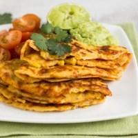 Cheesy jalapeno corn pancakes
