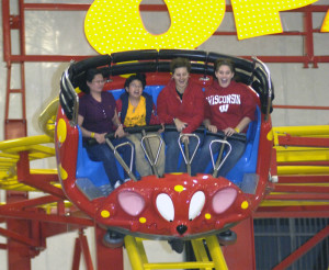 Guests safely enjoying a ride on the Opa roller coaster. -Photo: Dan Feicht, Amusement Today