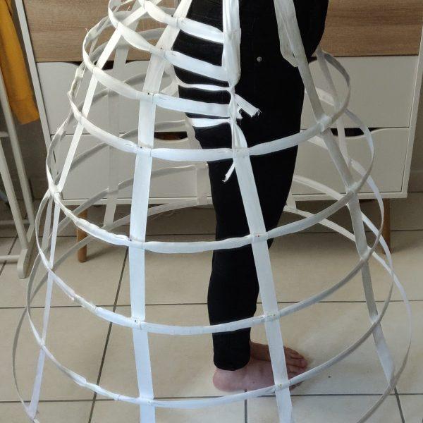 Noob Couture Episode 4 –  Réalisation de la crinoline elliptique de ma robe 1850