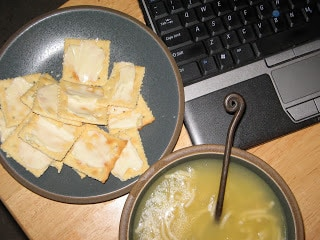 Dinner for One: Buttery Saltines (and soup)