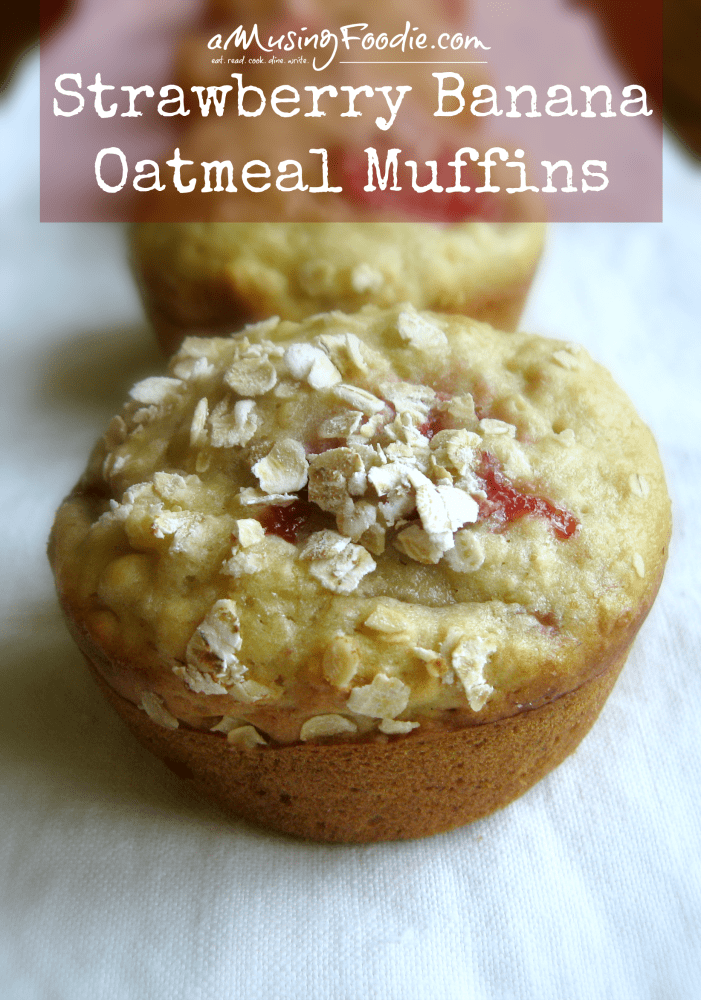 Strawberry Banana Oatmeal Muffins