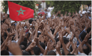 Figure 2: the graduates protest in front of the parliament  Universities In Morocco image 2