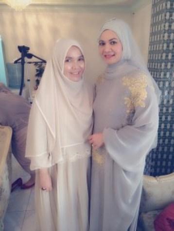 me and Irna Mutiara (Irna La Perle), designer   Fashionista gathering in Jeddah, Saudi Arabia! No black Abaya's here! IMG 20150215 WA0077