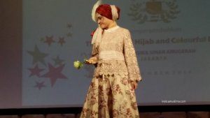 Beige and maroon floral dress  Beautiful and Elegant Muslima Clothing krem