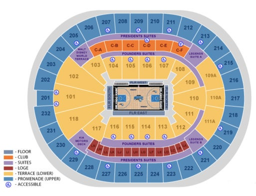 Amway Center Loge Seating Chart