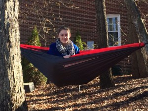 Emily in the hammock