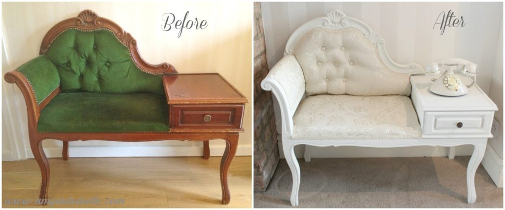 Shabby to Chic – Upcycled Vintage Telephone Table - Shabby To Chic - Upcycled Vintage Telephone Table - Amy Antoinette
