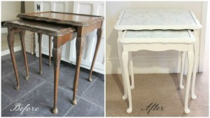 Shabby to Chic – Upcycled Nest of Tables