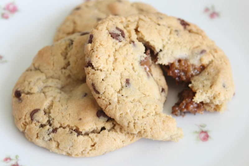 Rolo Stuffed Chocolate Chip Cookies - Amy Antoinette