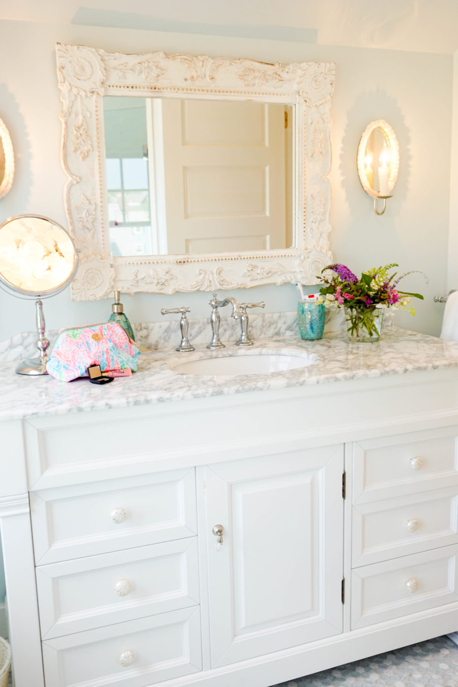 Mermaid Loft Bathroom Reveal I Believe In Pink