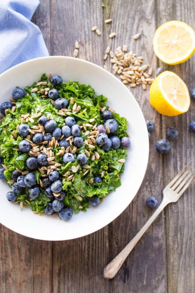 Summer Kale & Blueberry Salad