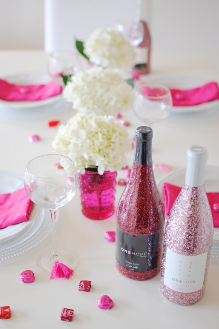 Galentines Tablescape Inspo with OneHope Wine