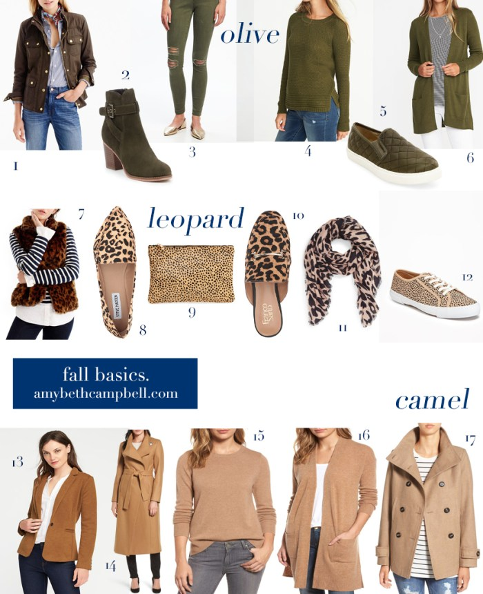 Fall Basics - amybethcampbell.com