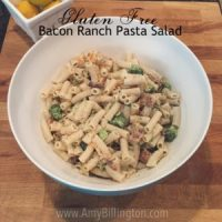 Gluten Free Bacon Ranch Pasta Salad