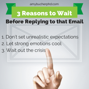 3 Reasons to Wait to Reply to that Email
