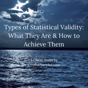 Types of Statistical Validity- What They