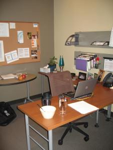 This is an office I had at a previous job. It was very private and spacious, which may have been at odds with a relationship-driven culture.
