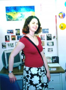 Me in my grad school office at the start of my PhD program. This was the site of many student meetings, lots of grading, and lots of lesson planning. It appears NOT to be the site of good eyebrow grooming.