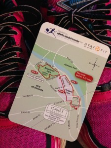 The running map I was given on a recent stay at a Hyatt in New Jersey.
