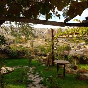 The garden area at the Kelebek Hotel.
