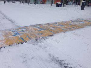 Please let the marathon finish line look less snowy on April 20!