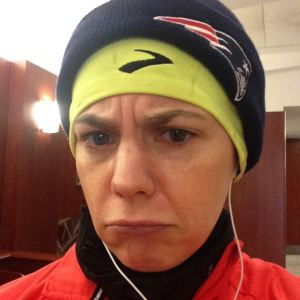 And this is the sad, be-Vaselined face of someone who knows she's spending the next two hours in -7 windchill.