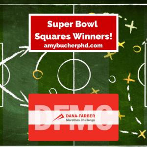 Super Bowl Squares Winners!