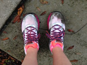 Poor two-week old sneakers; I'm sorry I stomped you through a muddy patch of Florida swamp.