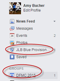 Facebook prioritizes my most frequently visited groups in my sidebar.