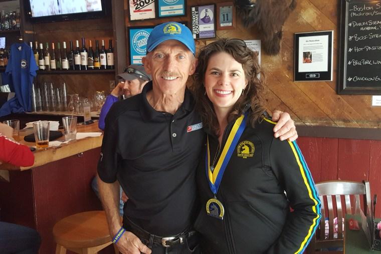 Just a couple of Boston Marathoners :)