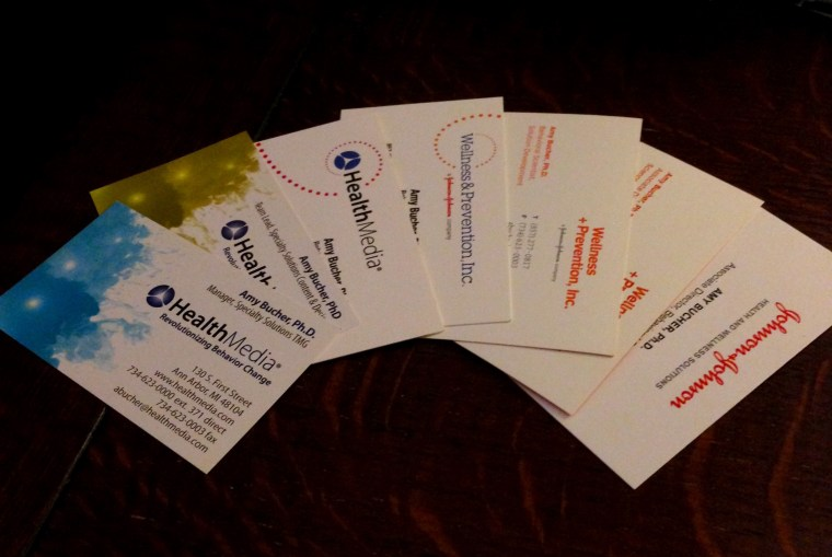 Seven years, seven business cards