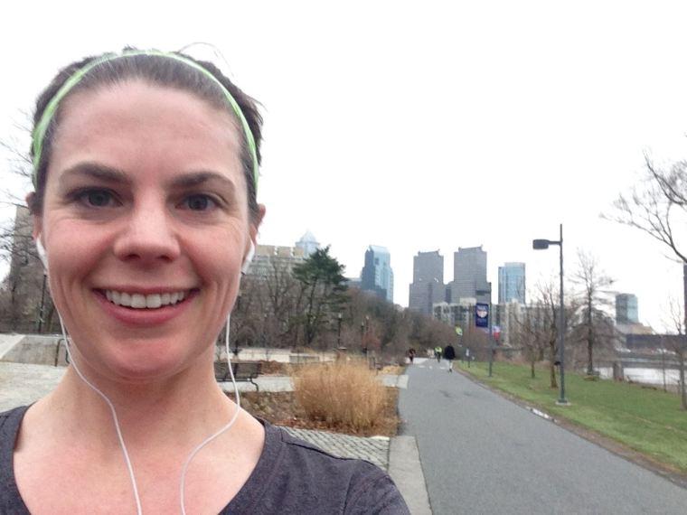 Continuing my theme of terrible selfies--running in Philadelphia.
