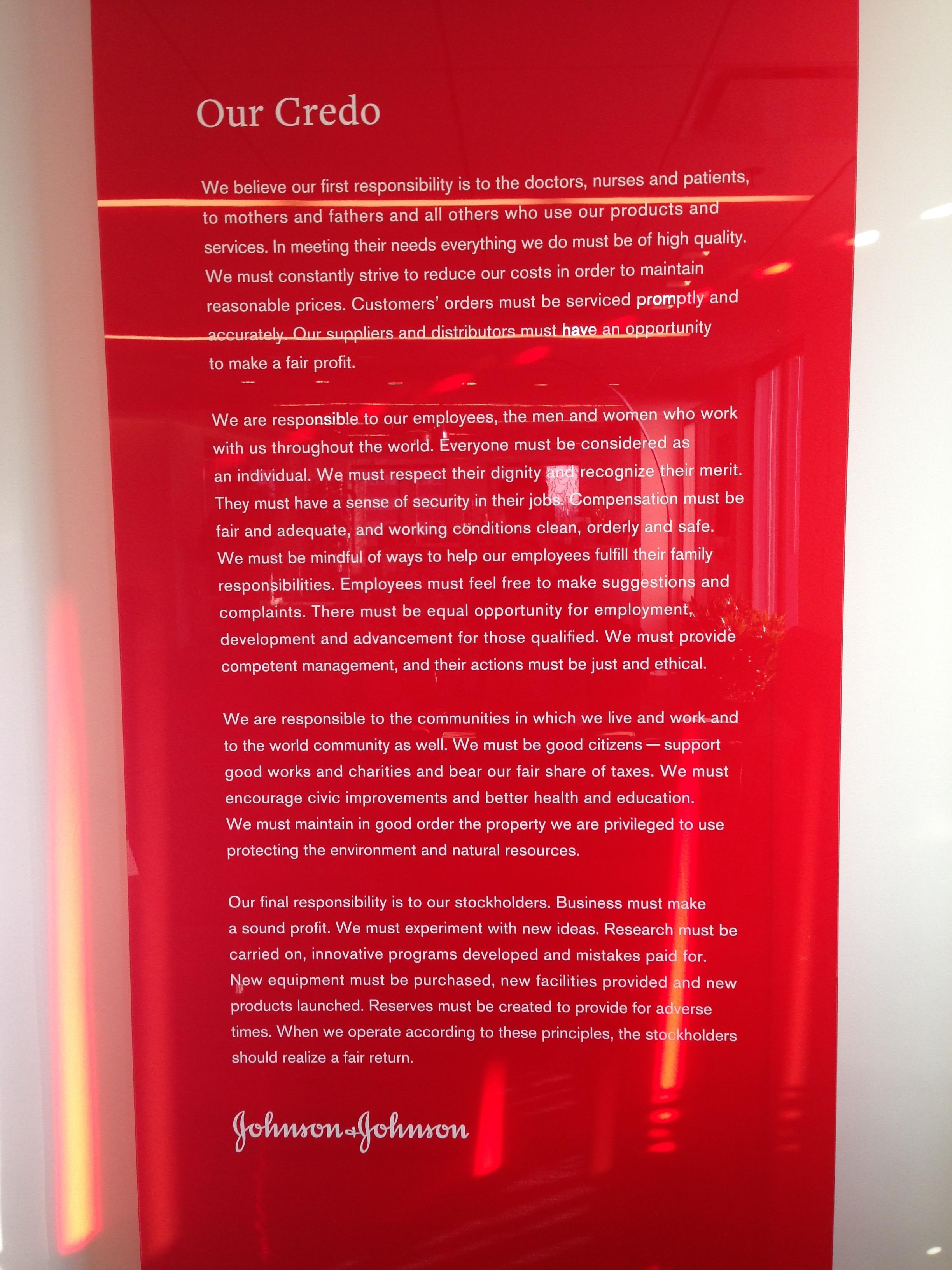 Cultural Artifacts Case Study The Jj Credo Amy Bucher Phd