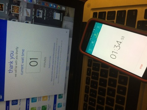 Online timer, meet smartphone timer. One of you represents actual time.