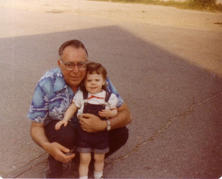 Me with my grandfather.