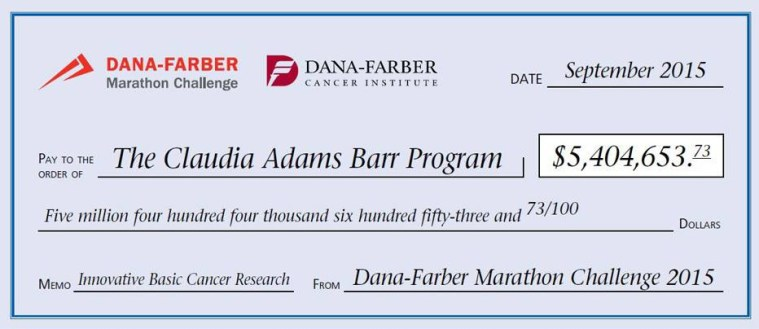 The big check.