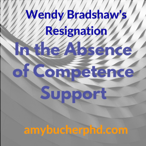 Wendy Bradshaw's Resignation