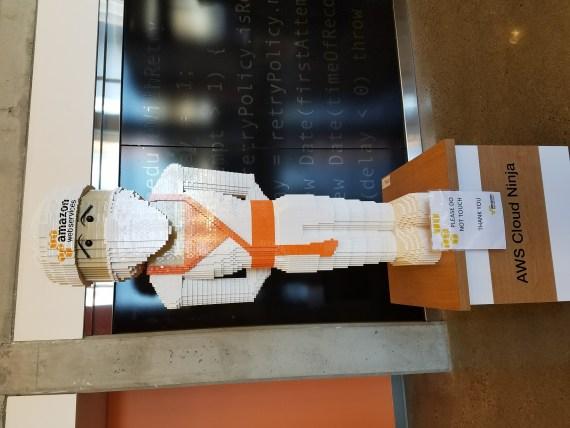 In the AWS lobby