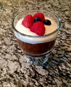 Eat Dessert First: Dark Chocolate Bourbon (Avocado) Pudding