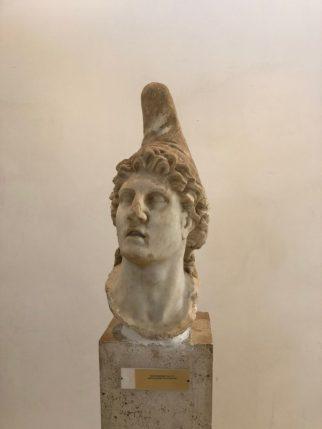 Testa di Ganimede, il coppiere degli dèi che versava il vino Cecubo