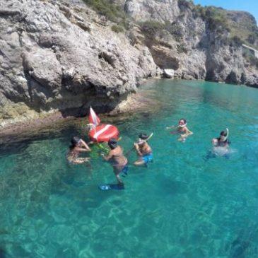 Snorkeling in Sperlonga