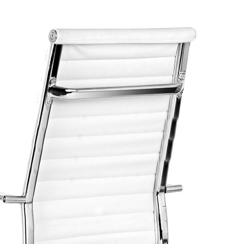 Replica Eames PU Leather High Back Office Chair - White