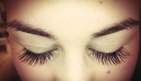 close up of eye lashes