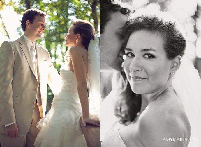 eff corbit and christine garner wedding at A & M Gardens in Azle Texas by Dallas Wedding Photographer Amy Karp Photography