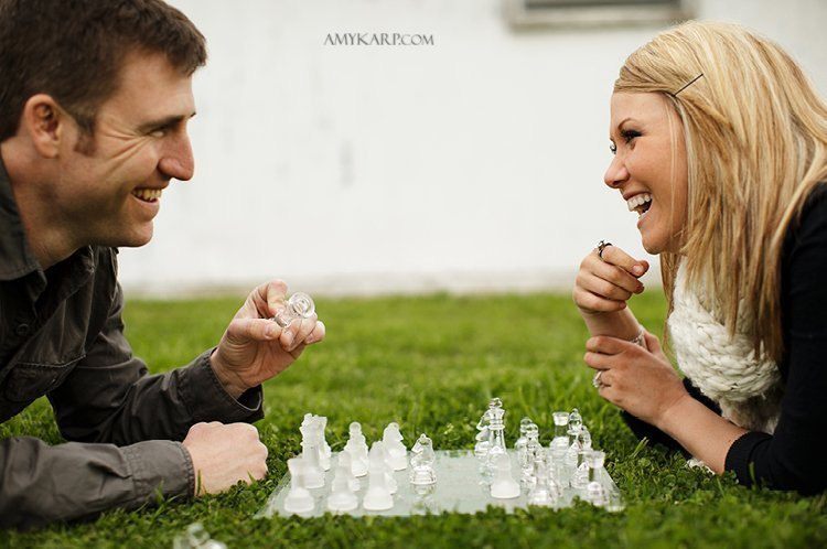olivia and bobby's farm engagement session with a horse and chess set in ennis texas by dallas wedding photographer amy karp (12)