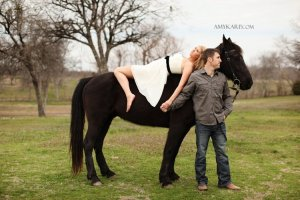 olivia and bobby's farm engagement session with a horse and chess set in ennis texas by dallas wedding photographer amy karp (20)