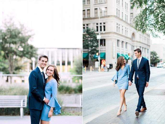 lakeside park and downtown dallas engagement portraits with kate and kevin