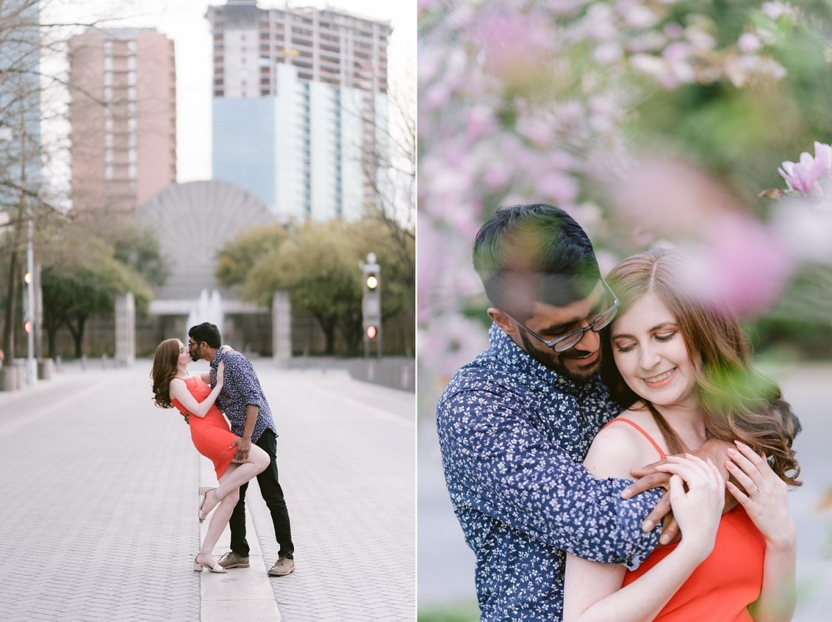 dallas wedding engagement photographer with jess and finny