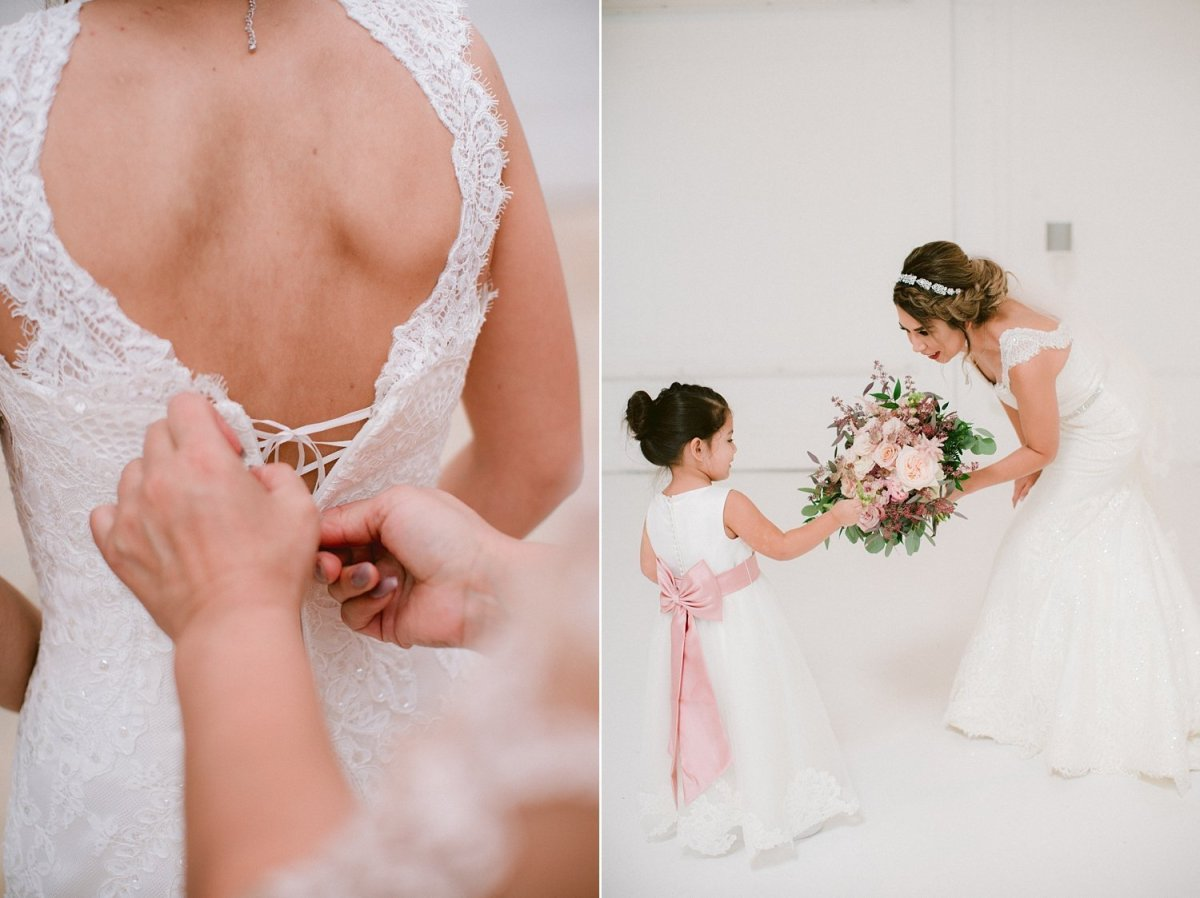 place at tyler wedding bride and flower girl